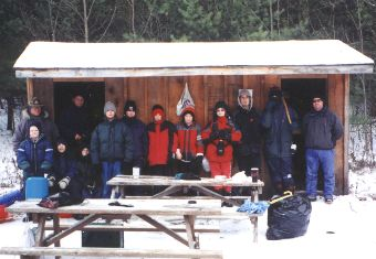 Winter Camping At Manitou